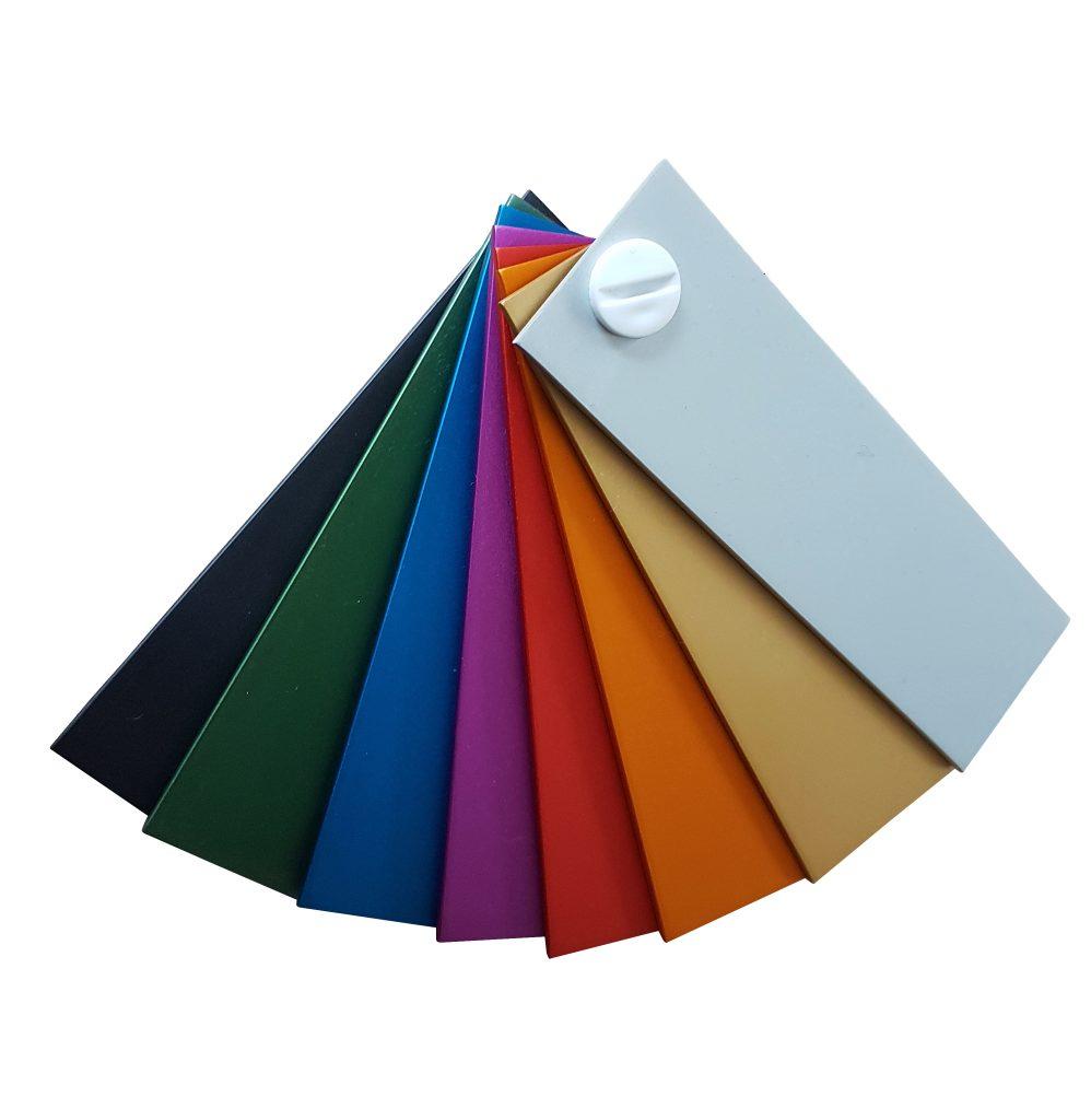 Paleta barw anodowania aluminium